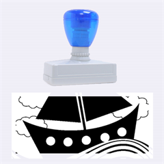 Boat   Yellow Rubber Stamps (large) by Valentinaart