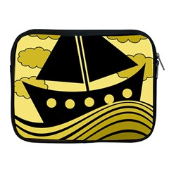 Boat   Yellow Apple Ipad 2/3/4 Zipper Cases by Valentinaart