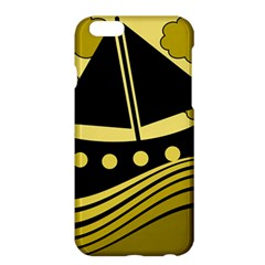 Boat   Yellow Apple Iphone 6 Plus/6s Plus Hardshell Case by Valentinaart