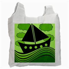 Boat   Green Recycle Bag (one Side)