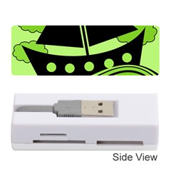 Boat   Green Memory Card Reader (stick)  by Valentinaart