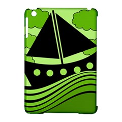 Boat   Green Apple Ipad Mini Hardshell Case (compatible With Smart Cover) by Valentinaart