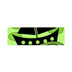 Boat   Green Satin Scarf (oblong) by Valentinaart