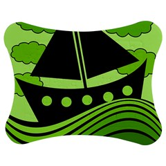 Boat   Green Jigsaw Puzzle Photo Stand (bow) by Valentinaart