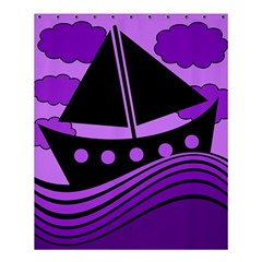 Boat   Purple Shower Curtain 60  X 72  (medium)  by Valentinaart