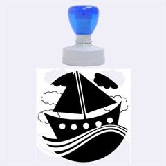 Boat   Purple Rubber Round Stamps (large) by Valentinaart