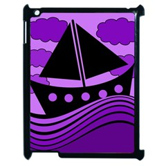 Boat   Purple Apple Ipad 2 Case (black)