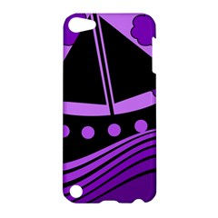 Boat   Purple Apple Ipod Touch 5 Hardshell Case by Valentinaart