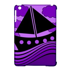 Boat   Purple Apple Ipad Mini Hardshell Case (compatible With Smart Cover) by Valentinaart