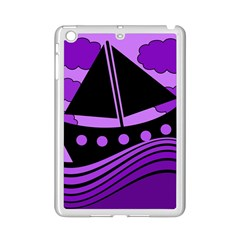 Boat   Purple Ipad Mini 2 Enamel Coated Cases by Valentinaart