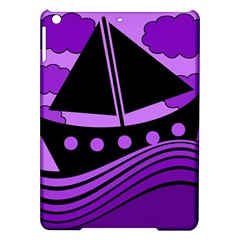 Boat   Purple Ipad Air Hardshell Cases
