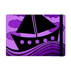 Boat   Purple Ipad Mini 2 Flip Cases