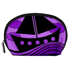 Boat   Purple Accessory Pouches (large)