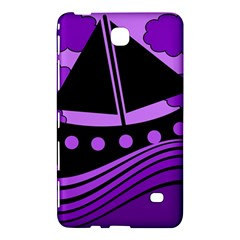 Boat   Purple Samsung Galaxy Tab 4 (7 ) Hardshell Case  by Valentinaart