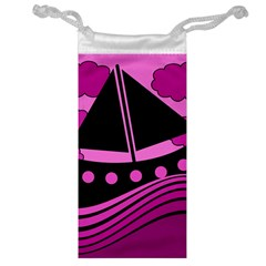 Boat   Magenta Jewelry Bags by Valentinaart