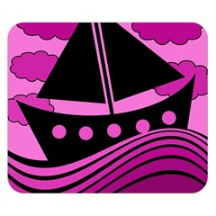 Boat   Magenta Double Sided Flano Blanket (small)  by Valentinaart