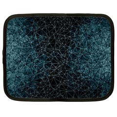 Polygonal And Triangles In Blue Colors  Netbook Case (large)