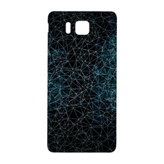 Polygonal And Triangles In Blue Colors  Samsung Galaxy Alpha Hardshell Back Case by vanessagf