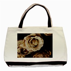 Roses Flowers Basic Tote Bag by vanessagf