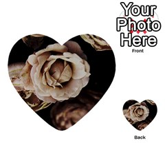 Roses Flowers Multi Purpose Cards (heart)  by vanessagf