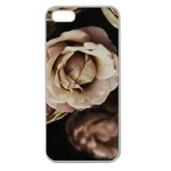 Roses Flowers Apple Seamless Iphone 5 Case (clear) by vanessagf