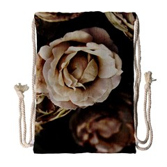 Roses Flowers Drawstring Bag (large) by vanessagf