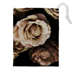 Roses Flowers Drawstring Pouches (xxl) by vanessagf