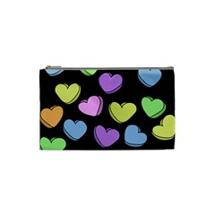 Valentine s Hearts Cosmetic Bag (small)  by BubbSnugg