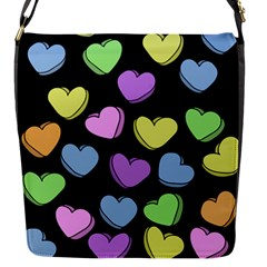 Valentine s Hearts Flap Messenger Bag (s) by BubbSnugg
