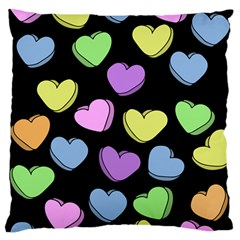Valentine s Hearts Standard Flano Cushion Case (two Sides) by BubbSnugg