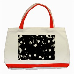 Black Dream  Classic Tote Bag (red) by Valentinaart