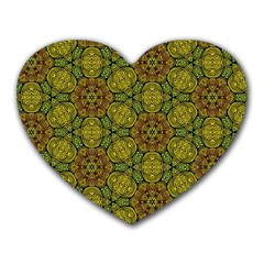 Camo Abstract Shell Pattern Heart Mousepads by TanyaDraws