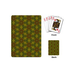 Camo Abstract Shell Pattern Playing Cards (mini)  by TanyaDraws