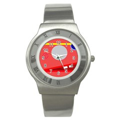 Cute Face Stainless Steel Watch by Valentinaart