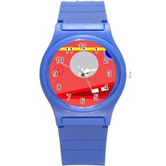 Cute Face Round Plastic Sport Watch (s) by Valentinaart