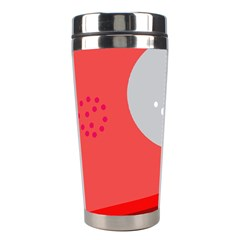 Cute Face Stainless Steel Travel Tumblers by Valentinaart