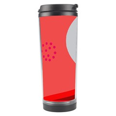 Cute Face Travel Tumbler by Valentinaart