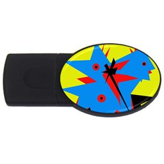 Clock Usb Flash Drive Oval (4 Gb)