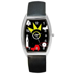 Stay Cool Barrel Style Metal Watch by Valentinaart