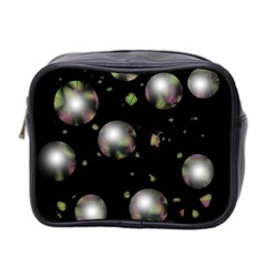 Silver Balls Mini Toiletries Bag 2 Side by Valentinaart