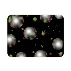 Silver Balls Double Sided Flano Blanket (mini)  by Valentinaart