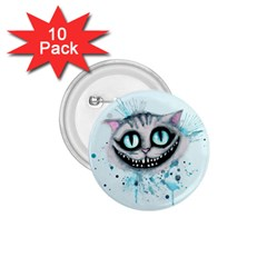 Cheshire Watercolor  1 75  Buttons (10 Pack) by lvbart