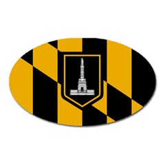 Flag Of Baltimore  Oval Magnet