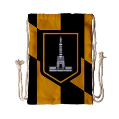Flag Of Baltimore  Drawstring Bag (small) by abbeyz71