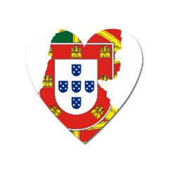 Flag Map Of Portugal Heart Magnet by abbeyz71