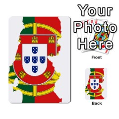 Flag Map Of Portugal Multi Purpose Cards (rectangle)  by abbeyz71