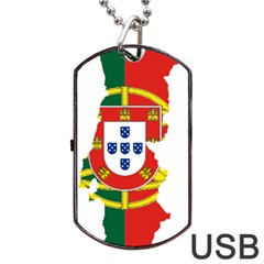 Flag Map Of Portugal Dog Tag Usb Flash (one Side) by abbeyz71