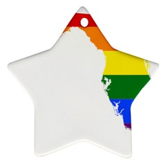 Lgbt Flag Map Of Florida Star Ornament (two Sides)  by abbeyz71