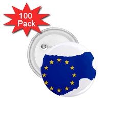 European Flag Map Of Cyprus  1 75  Buttons (100 Pack)