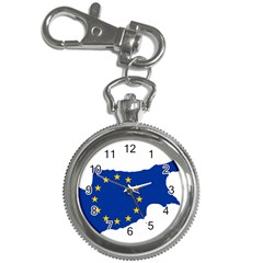 European Flag Map Of Cyprus  Key Chain Watches